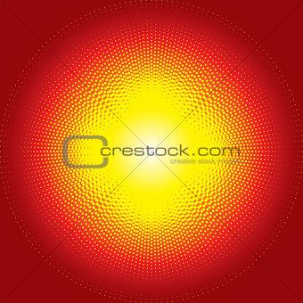 Red shiny starburst halftone background