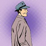 man coat hat retro style