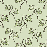 seamless pattern with hop