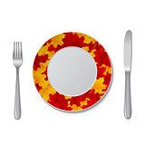plate autumn