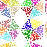 Openwork geometric pattern