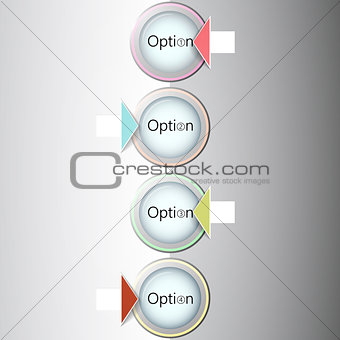 Abstract light numbered circles infographic design with your text and light background  Eps 10 vector illustration  can be used for workflow layout, diagram, chart, number options, web design.