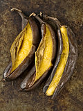 rustic barbecued banana