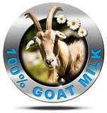 100 Percent Goat Milk- Metal Icon