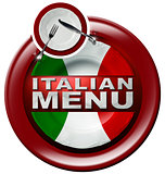 Italian Menu - Round Icon with Plate