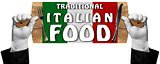 Traditional Italian Food Sign