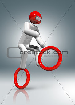 Cycling BMX 3D symbol, Olympic sports