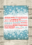 Merry christmas poster from the world