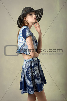 charming girl with lovely outfit