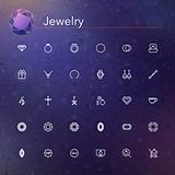 Jewelry Line Icons
