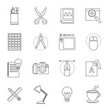 designer tool thin line icon