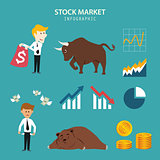 stock market infographic
