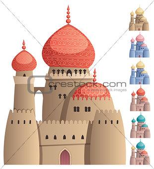 Arabian Castle on White