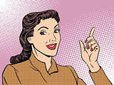 Business coach woman retro