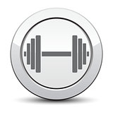 Vector growing graph icon. Infographic chart vector.  silver button