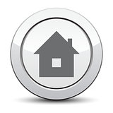 home icon, silver button. eps 10