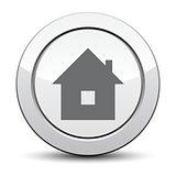 home icon, silver button. eps 10