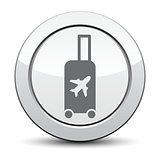 Traveling bag - Vector illustration isolated,  silver button