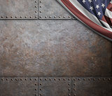 rust steel metal texture with rivets as steam punk background