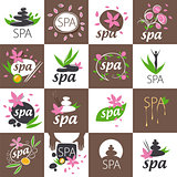 large set of vector logos for spa salon