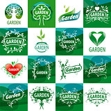 large set of vector logos for the garden