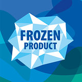 vector logo of the crystals for the frozen products