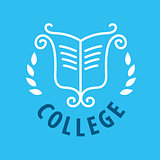 vector logo patterns and books for college