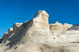 White Rock near the sea of Sarakiniko area, Milos island, Greece