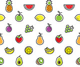 Fruits seamless background texture