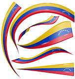 venezuela flag set on white background