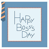Happy boss day invitation card.