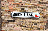 Brick Lane Street Sign, London, England