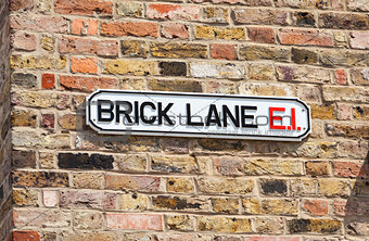 Brick Lane Street Sign, London, England