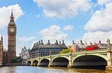 Big Ben and Westminster Bridge, London, England