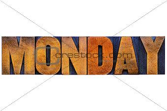 Monday word typography