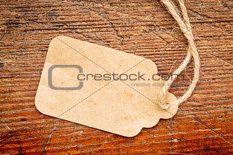 blank paper price tag