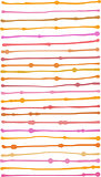liquid organic orange pink stripe lines pattern over white