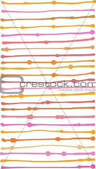 liquid organic orange pink stripe lines pattern over white