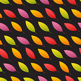 Tilted Autumn Leaves Seamless Pattern