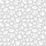White Leaves Seamless Pattern