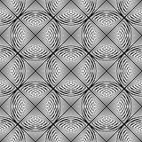 Design seamless monochrome circle lines pattern