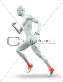 3D male figure running