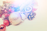 Christmas decorations with vintage effect