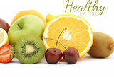 Photorealistic fresh fruit background