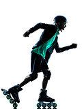 man Roller Skater inline  Rollerblading silhouette
