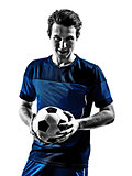 italian soccer player man silhouette portraits