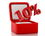 3d gift box with 10 percent discount.