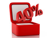 3d gift box with 40 percent discount.