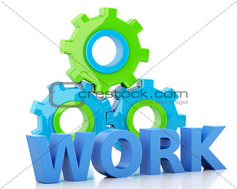 3d Color gears. Business concept
