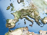 Europe map with soft focus